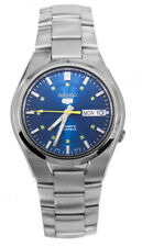 Seiko Automatic SNK615 SNK615K1 Men Blue Dial Day Date Stainless Steel Watch