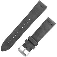 Vintage Suede Leather Watchband - Slate Gray - 18, 20 & 22mm