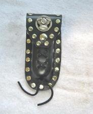 Buck 110 Leather Knife Case -  Motorcycle Engine Concho