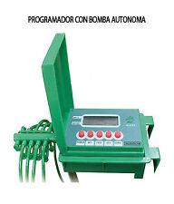 Programador de riego con bomba autónoma. Riego de plantas