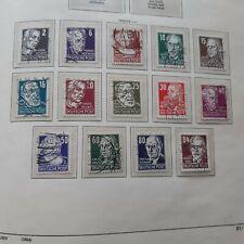 DDR   (0405 46) 1952  PERSÖHNLICHKEITEN  MI NR 327-341 GESTEMPELT