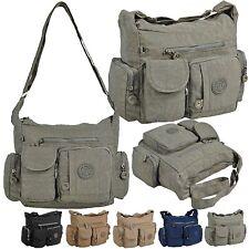 Bag Street Damen Handtasche Schultertasche Damentasche Umhängetasche Nylon 2219