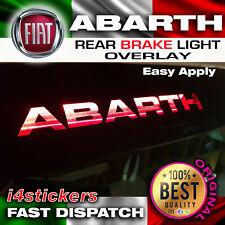 Fiat 500 Abarth Logo 3rd Brake Light Decal Sticker Graphic X 1 in Black Vinyl