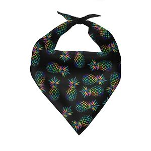 Pineapple Printing Pet Scarf Bandana Neckerchief Pet Accessories Dog Bibs Scarf