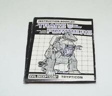 Trypticon Action Figure Robot Instruction Manual 1987 Hasbro G1 Transformers