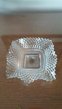 Antique vintage crystal glass candy dish