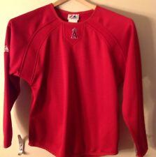 Anaheim Angels Red Medium Majestic Baseball Shirt