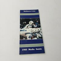 1983 Baltimore Colts Media/Press Guide Official NFL Yearbook