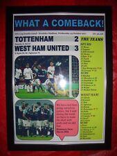 Tottenham Hotspur 2 West Ham United 3 - 2017 EFL Carabao Cup - framed print