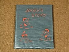 Vintage Baby's Story Record Book ~ Memory Birth Keepsake Album ~ Blue ~ New!