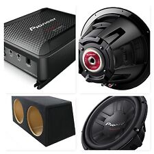 """Pioneer Champion Series Twin 12"""" Subwoofer and Mono Amplifier Bass Package Deal"""