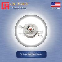 10Pcs 3W Watt High Power Deep Red 640-660nm SMD LED Chip COB Lamp Bulb Lights