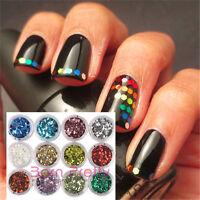 12Farbe Nail art Nagel Glitter Glimmer Puder Pulver Glitterstaub Nageldesign3103