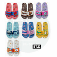 BTS BT21 Official Authentic Goods Velcro Slippers 230~250cm 7Characters + Track