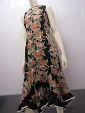 Vintage hawaii dress 80s Bird of paradise flower PARTY by CAROL BENNETT Waist 31