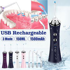 Electric Water Flosser Cordless Portable Dental Oral Irrigator USB Charge 3
