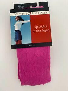 1 pr Tommy Hilfiger Fashion Tights Daisy Floral Mesh - Medium- Hot Pink