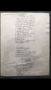 FIDEL CASTRO SIGNED LIST OF AGRICULTURE 1990