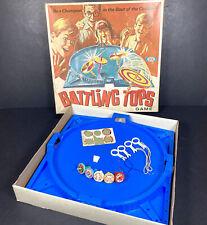 Battling Tops Vintage Retro Family Skill Board Game Ideal 1968 VGC Rare