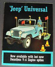 1965 Jeep CJ-5 CJ-6 Universal 4x4 Sales Brochure Folder Nice Original 65