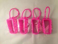 4 Bath Body Works Pink Pocketbac Holders Hand Gel Sanitizer Holder Rhinestones