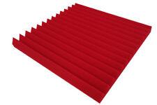 Akustikschaumstoff Rot Dreieck Lamellen Profil 5 cm Wave Panels Schallabsorber
