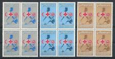 Philippines 1969 Sc# 1020-22 set Red cross Red crescent Lion Map blocks 4 MNH