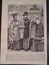Roman Flower Girl and The Prince and Princess Of Wales Harper's Weekly 1872