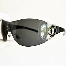 occhiali da sole CHANEL 4146 oval wrap sunglasses vintage mask rare black silver