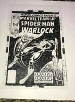 Amazing Spiderman Adam Warlock Outer Space Astonish Cover Production Art Acetat