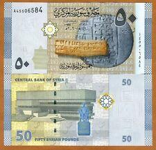 Syria, 50 pounds, 2009 (2010), P-112, A-prefix, UNC
