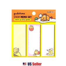 Sanrio Gudetama Scheduler Memo Pad Sticky Note (3 Designs x 20 Sheets)