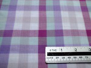 1,5 meters piece .100 % cotton check
