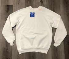 Vintage Tultex NOS Crewneck Sweatshirt White Made in USA single stitch Large