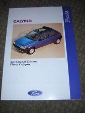 ORIGINAL FORD FIESTA CALYPSO SALES BROCHURE 1991