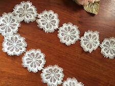 High quality Lace Flower Trim 5cm Width off white