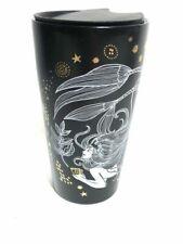 Starbucks 12 Oz Mermaid Black White Gold Ceramic Travel Mug