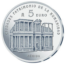ESPAÑA 5 euro plata 2015 MERIDA Ciudades Patrimonio de la Humanidad II Serie