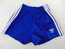 Vintage 80 ADIDAS Pantaloncini D164 XS S Bambino 13 14 Anni Blu Shorts Yugoslavi