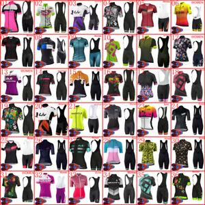 2021 Women Team Cycling Jersey Bib Shorts Set Bicycle Outfits Bike Sport Uniform