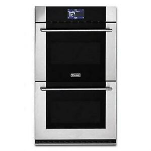 """Viking Virtuoso 6 Series 30"""" SS Double Thermal-Convection Oven MVDOE630SS"""