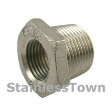 """Stainless Pipe Bushing 1/4"""" x 1/8"""" Type 304 Stainless 18-8"""