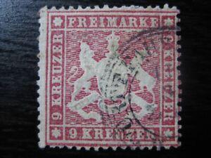 WURTTEMBERG GERMAN STATES Mi. #19y scarce VF used stamp! CV