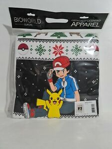 Pokemon Mens Ash & Pikachu X-Large Christmas Jumper Offical New With Tags