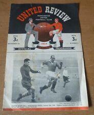 Manchester United v Everton, 1948/49 - Division One Match Programme.