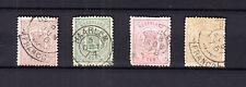 Nederland 13, 15, 16 en 17 Wapenzegels 1869 gestempeld