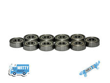 Longboard Bearings - Set of 10 x 608zz - 8x22x7mm, High speed, Abec 5