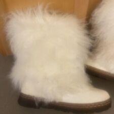 BEARPAW Boetis II Women's Boot White fur 7M NIB