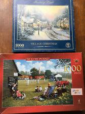 2 x Jigsaw Puzzle Bundle. Thomas Kinkade & Cricket Scene. 1000 Pieces. Free Post