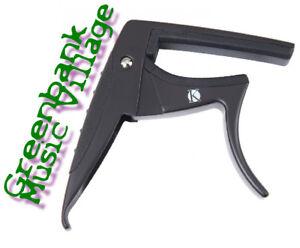 Kinsman Electric /Acoustic Curved Guitar Capo – Black - New - KAC305